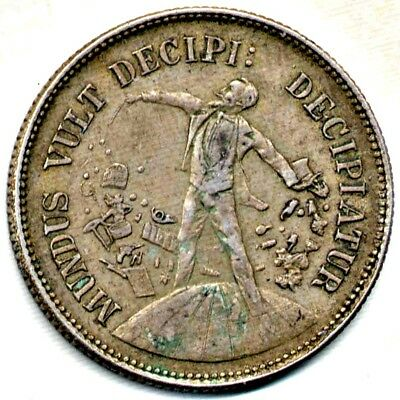 """Magicians Coin: Latin Inscription - """"The World Wants To Be Deceived"""" (Uniface)"""