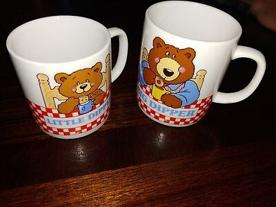 Vintage Avon Big Dipper Little Dipper Coffee Cocoa Mug Set from early 1990s