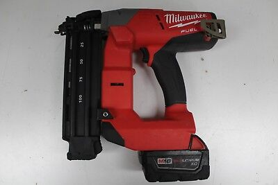 Milwaukee 2740-20 18V Li-Ion Brushless Cordless 18-Ga Brad Nailer w/Battery.