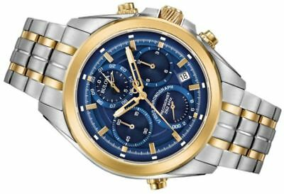 New Bulova Precisionist 98B276, Chronograph,Blue dial,UHF, Men Watch