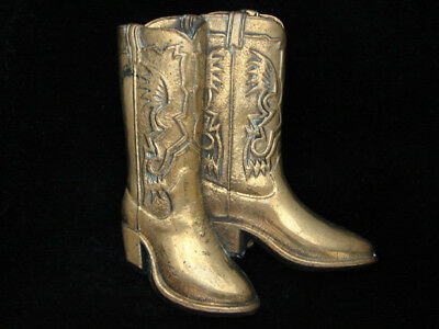 Oe21112 Vintage 1979 Cut-Out **Cowboy Boots** Solid Brass Baron Belt Buckle