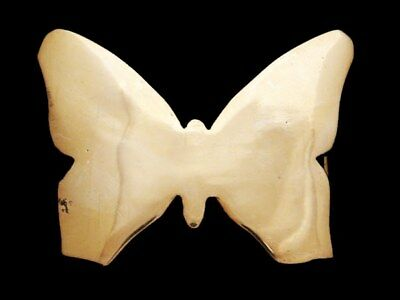 JH21101 VERY COOL VINTAGE 1970s CUT-OUT **BUTTERFLY** SOLID BRASS BELT BUCKLE