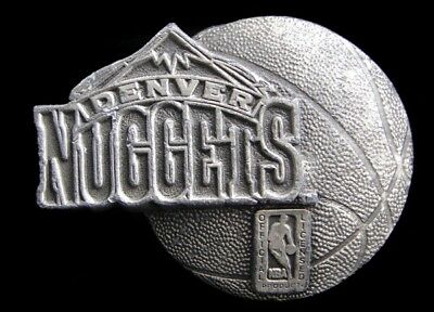 Jk14167 Great 1995 **Denver Nuggets** Nba Basketball Pewter Belt Buckle