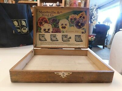 Antique Wooden Seed Display Box