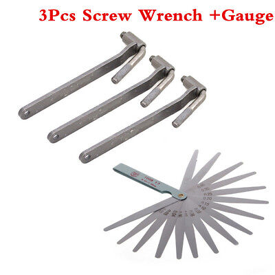 Motorcycle Scooter Adjustment Tool Valve Screw Wrench 8 9 10mm With Feeler Gauge