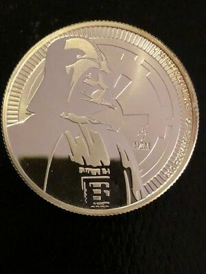 2017 Star Wars Darth Vader 1 oz Coin New Zealand Niue Coin Direct From Mint Tube
