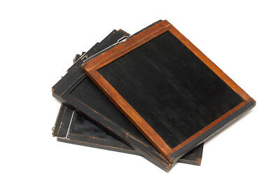 3 VINTAGE WOODEN 8 X 10 LARGE FORMAT FILM HOLDERs GREAT CONDITION Free Shipping