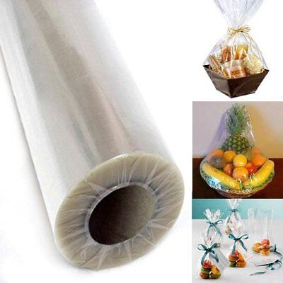"""40"""" inch Clear Cellophane Wrap Roll Party Gift Wrap Christmas Baskets Supplies"""