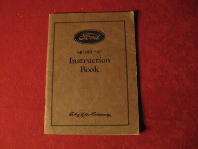 1929 Ford Model A AA Original Owner's manual Book operator's Instruction manual