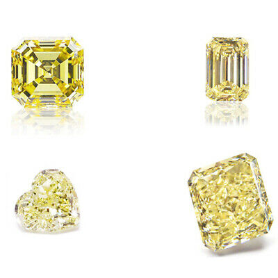 Yellow Color Loose Moissanite All Shape 0.5 CT to 5 CT Diamond Cut VVS 4 Jewelry