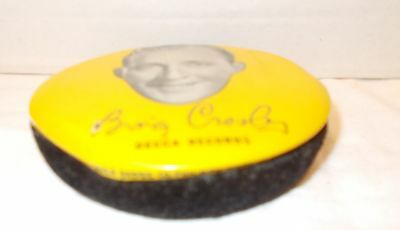 Vintage  VINYL Record Brush Featuring Bing Crosby, Advertising for Decca Records