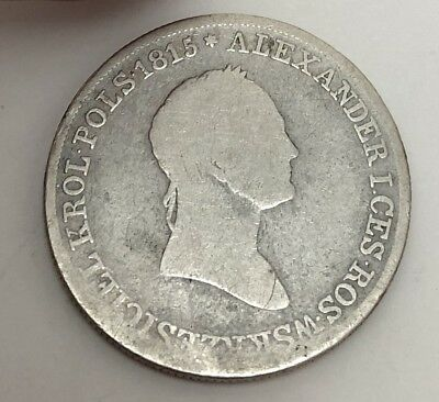 1829 or 1830 Poland 5 Zlotych FH, Scarce In Any Grade