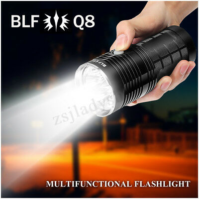 BLF Q8 4x XP-L 5000LM 450m LED Flashlight Super Bright IPX-8 Waterproof 5000K