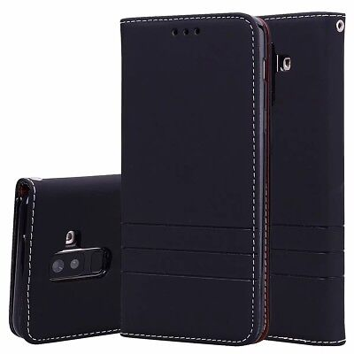 PU Leather Flip Stand Wallet Case Cover For Samsung Galaxy A6 Plus J6 J4 J2 2018