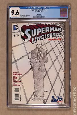 Superman Unchained (DC) #4B 2014 Lee Sketch 1:300 Variant CGC 9.6 1215937007