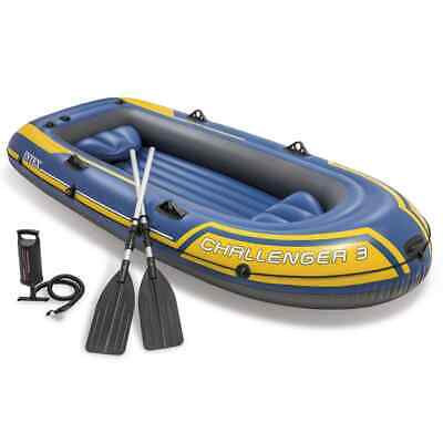 Intex Challenger 3 Set Inflatable Boat Dinghy Raft with Oars and Pump 68370NP