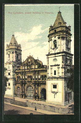 AK Panama, The Cathedral, oldest building in Panama