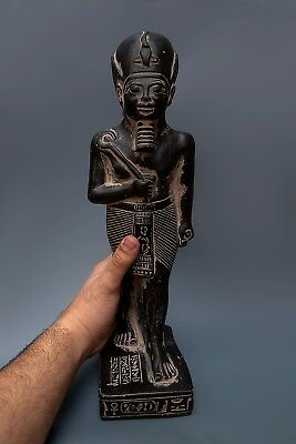 Ancient Egypt Egyptian Antiques God Osiris Statue Pharaoh Carved Stone 525 BC