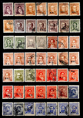 Argentina: Classic Era Stamp Collection With Official Department Overprints