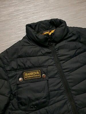 🔥Genuine🔥 Mens BARBOUR Biker Bubble Bomber Jacket Quilted Coat SIZE LARGE L XL