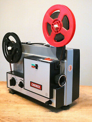 SUPERB Cinerex 707 Dual Format 8mm Cine Projector BOXED Guaranteed Working
