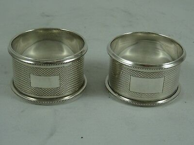 PAIR, solid silver ART DECO, NAPKIN RINGS, 1935, 29gm