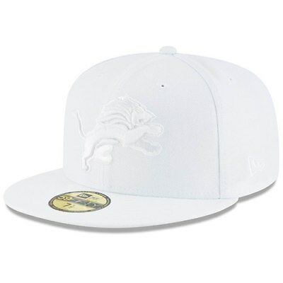 New Era Detroit Lions White on White 59FIFTY Fitted Hat