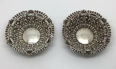 Edwardian Sterling Silver Salt Cellars 1900-01