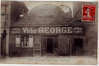 87 -- Limoges --- Magasin Victor George - Treillages Grillages Inedite