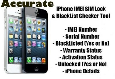 Full GSX  accurate info  Sold By Simlock Network Check by IMEIIphone 5-X& More