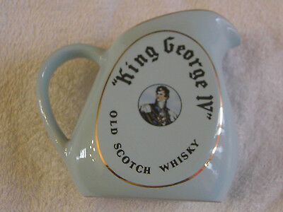 King George Iv Whisky Advertising Water Jug Pichet Pitcher