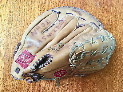 "Vintage ""Rawlings"" Leather Baseball Gant Cuir Glove right handed thrower"