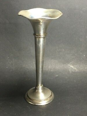A Very Small 10cm Dutch Silver Bud Trumpet Vase Hallmarked with small Dings