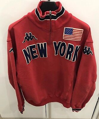 KAPPA 90s Felpa USA Vintage Men's Sweatshirt Streetwear Anni 90 Made In Italy 🔥