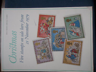 Royal Mail A4 Post Office Poster 1979 Christmas