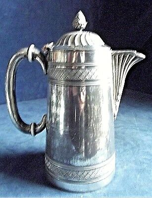 "SMART 9"" ~ SILVER Plated ~ BULBOUS Juice / Water JUG ~ c1890"