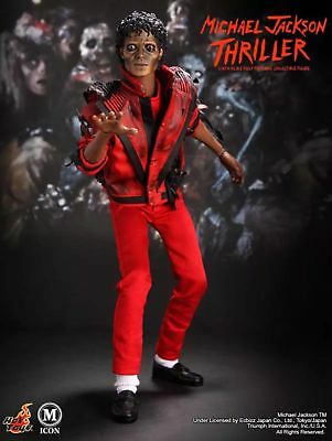 "Michael Jackson 1/6 action figure HOT TOYS Thriller jacket 12"" DOLL collectible"