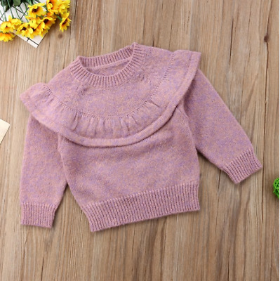 18 Month Knitted Ruffle Sweater Top for Girl