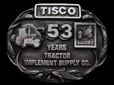 Ic17156 Vintage 1988 ***tractor Implement Supply Co.*** Pewter Buckle