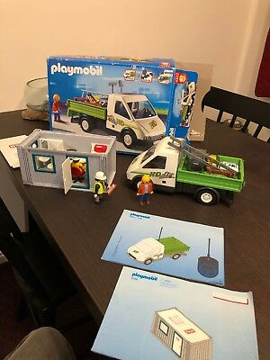 2x Playmobil construction themed sets 4322 and 3260 - Free Postage