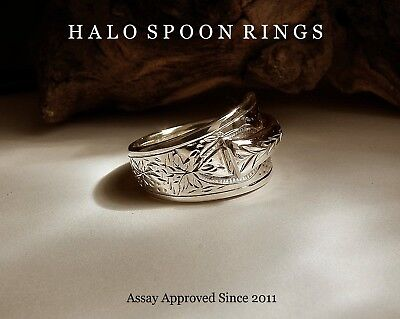 Victorian Solid Silver Spoon Ring Glasgow 1889 *assay Approved* Valentine Gift
