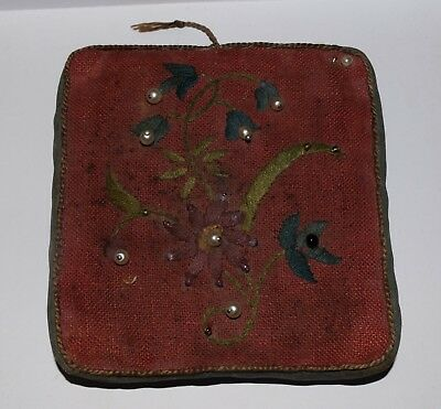 Vintage WW1 Totally Disabled 'Soldiers Embroidery Industry' Square Pin Cushion