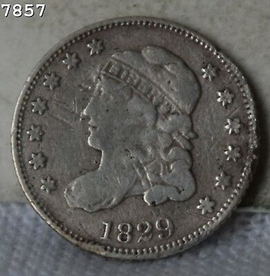 1829 Capped Bust Half Dime *Free S/H After 1st Item*