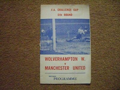 Wolverhampton Wanderers V Manchester United Pirate Programme, Fa Cup 1965/66