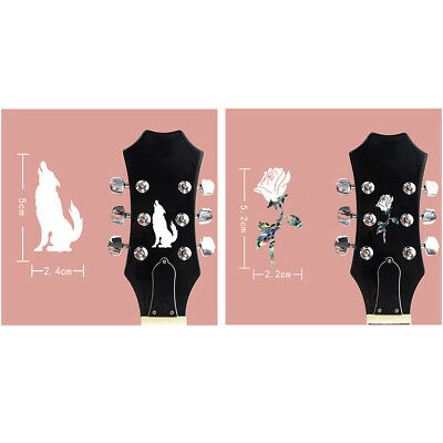 2pcs Guitar Headstock Inlay Sticker Decal Marker for Guitar Neck Parts