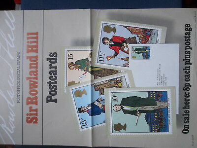 A3 Post Office Poster 1979 Rowland Hill Phq Postcards