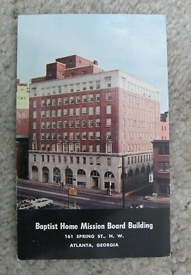 Vintage Baptist Home Mission Board Building Atlanta Ga Postcard Georgia