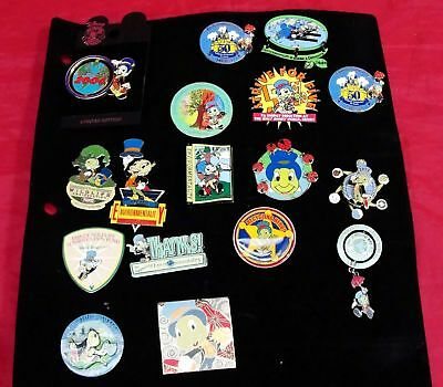 Rare Lot 17 Jiminy Cricket Enviormentality Earth Day Spinner Slider Dangle Pin