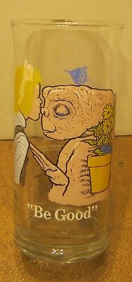 """1982 Pizza Hut E.T. The Extra Terrestrial Glass """"BE GOOD"""" Mint Condition!! NR!!"""