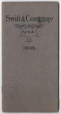 1905 Swift & Company Booklet Chicago Union Stock Yards Advertising Products